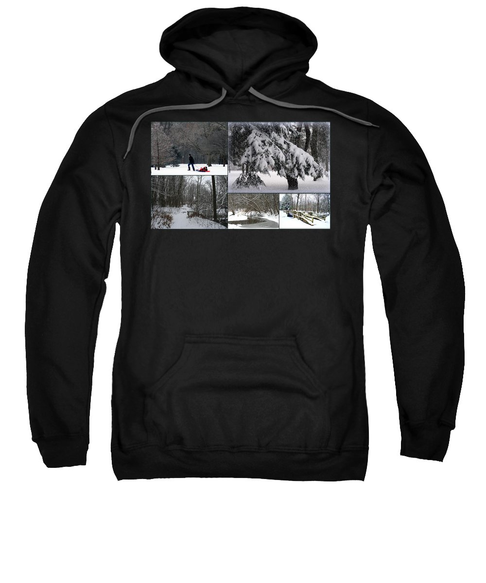 Wisconsin Sweatshirt featuring the photograph Winter At Petrifying Springs Park by Kay Novy