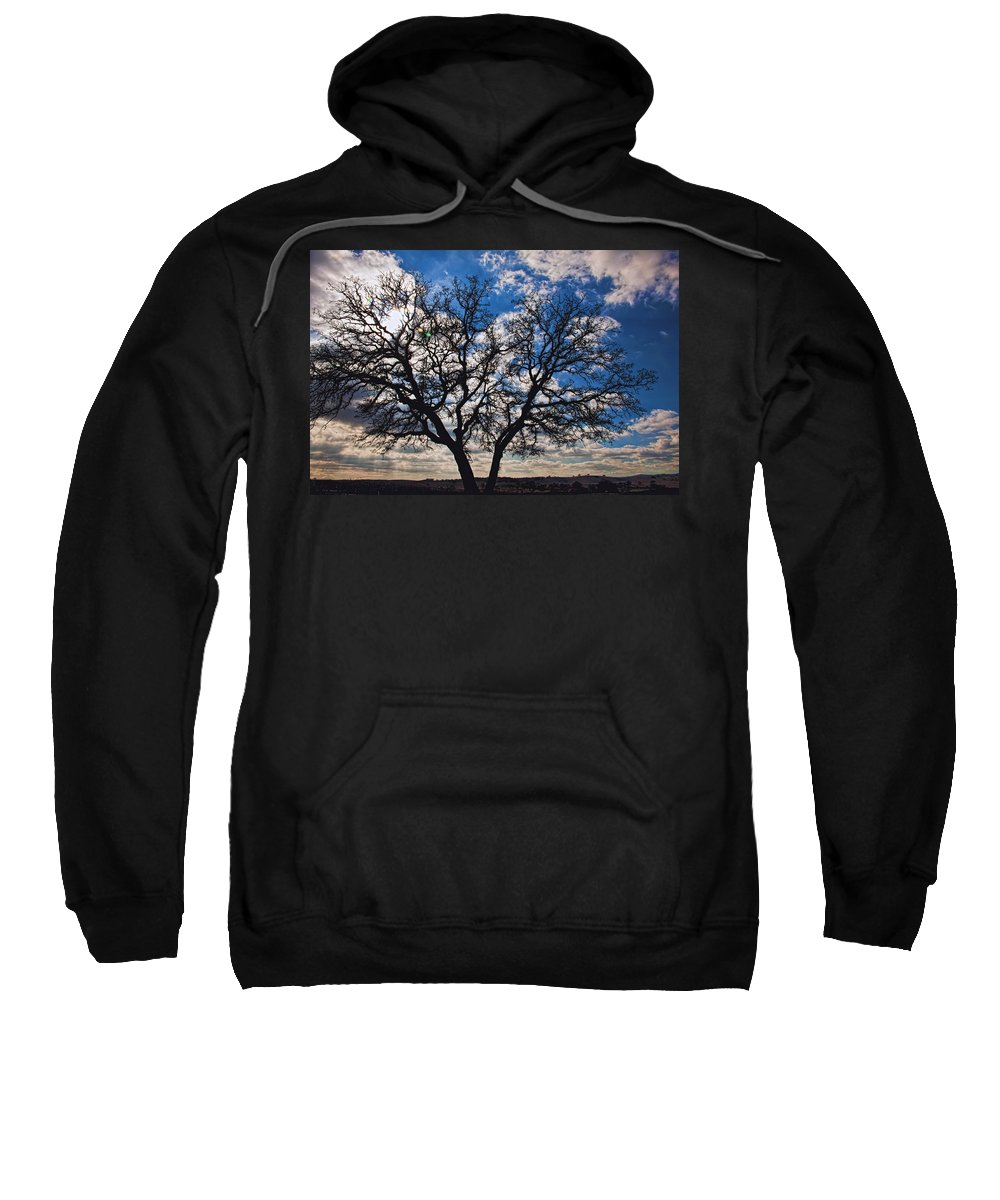 Landscape Sweatshirt featuring the photograph Winter Blue Skys by Bill Dodsworth