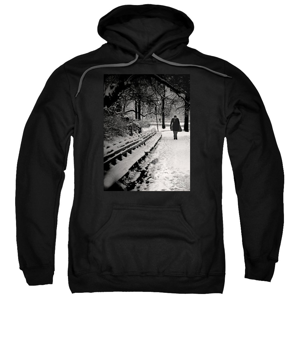 Winter Sweatshirt featuring the photograph Winter In Central Park by Madeline Ellis