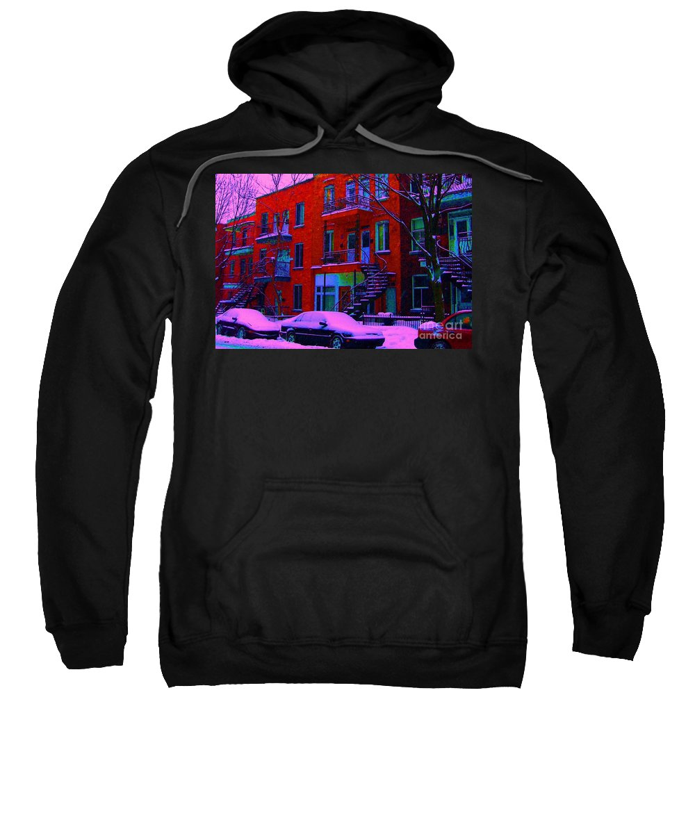 Montreal Sweatshirt featuring the photograph Winter Staircases Two by Carole Spandau