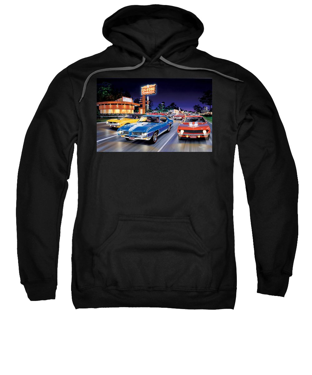 America Sweatshirt featuring the photograph Woodward Avenue by Bruce Kaiser