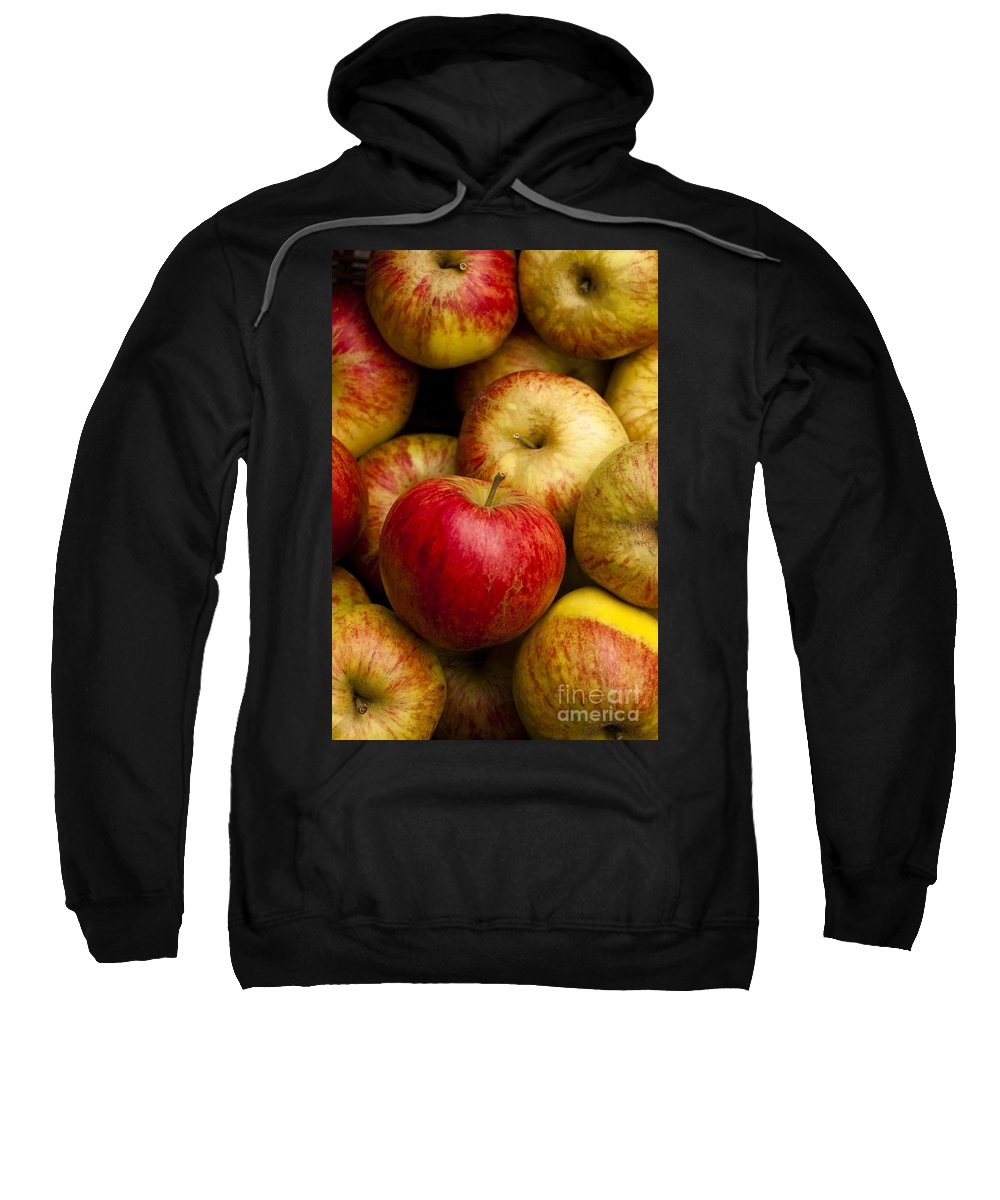 Apple Sweatshirt featuring the photograph Worcester Pearmain by Anne Gilbert