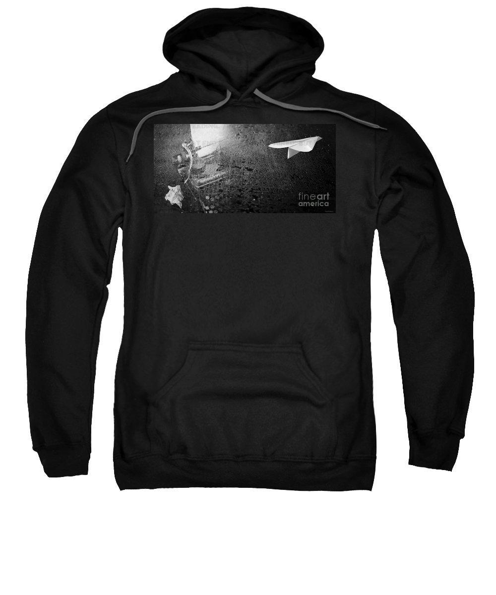 Words Sweatshirt featuring the photograph Words Take Flight by Edward Fielding