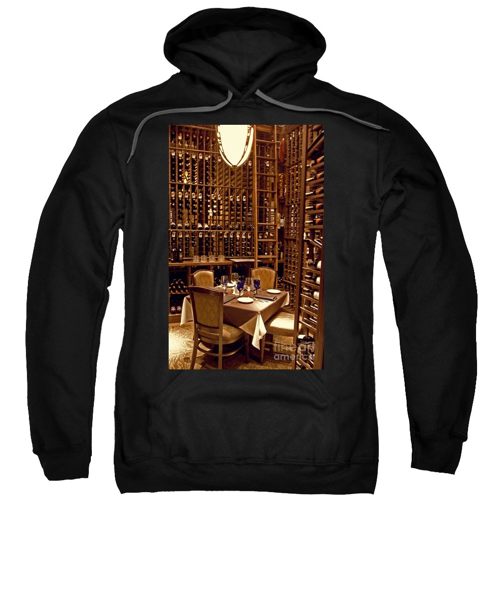 Wright Sweatshirt featuring the photograph Would You Join Me For A Glass My Dear by Paulette B Wright