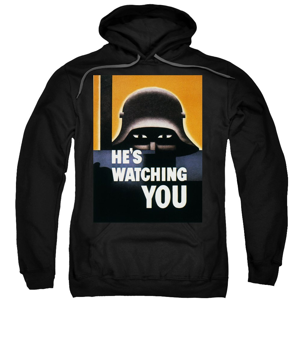 1942 Sweatshirt featuring the photograph Wwii: Propaganda Poster by Granger