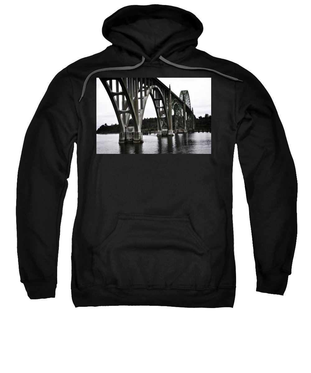 Newport Sweatshirt featuring the photograph Yaquina Bay Bridge - Series I by Image Takers Photography LLC - Laura Morgan
