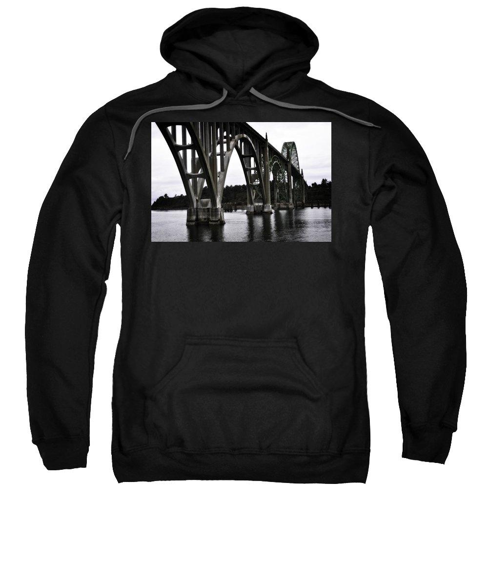 Newport Sweatshirt featuring the photograph Yaquina Bay Bridge - Series J by Image Takers Photography LLC - Laura Morgan