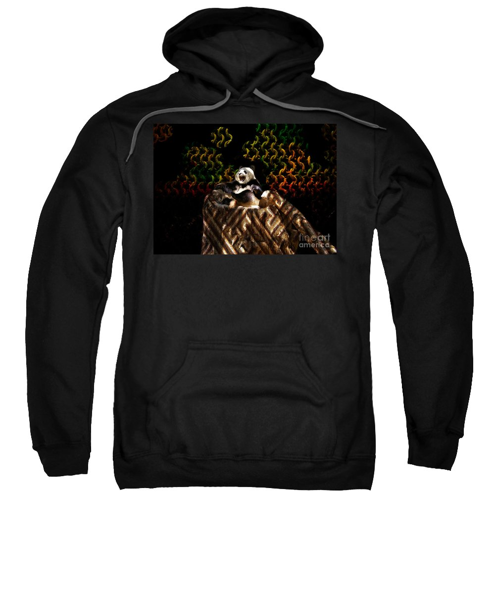 Yawning Sweatshirt featuring the photograph Yawning Panda by Mariola Bitner