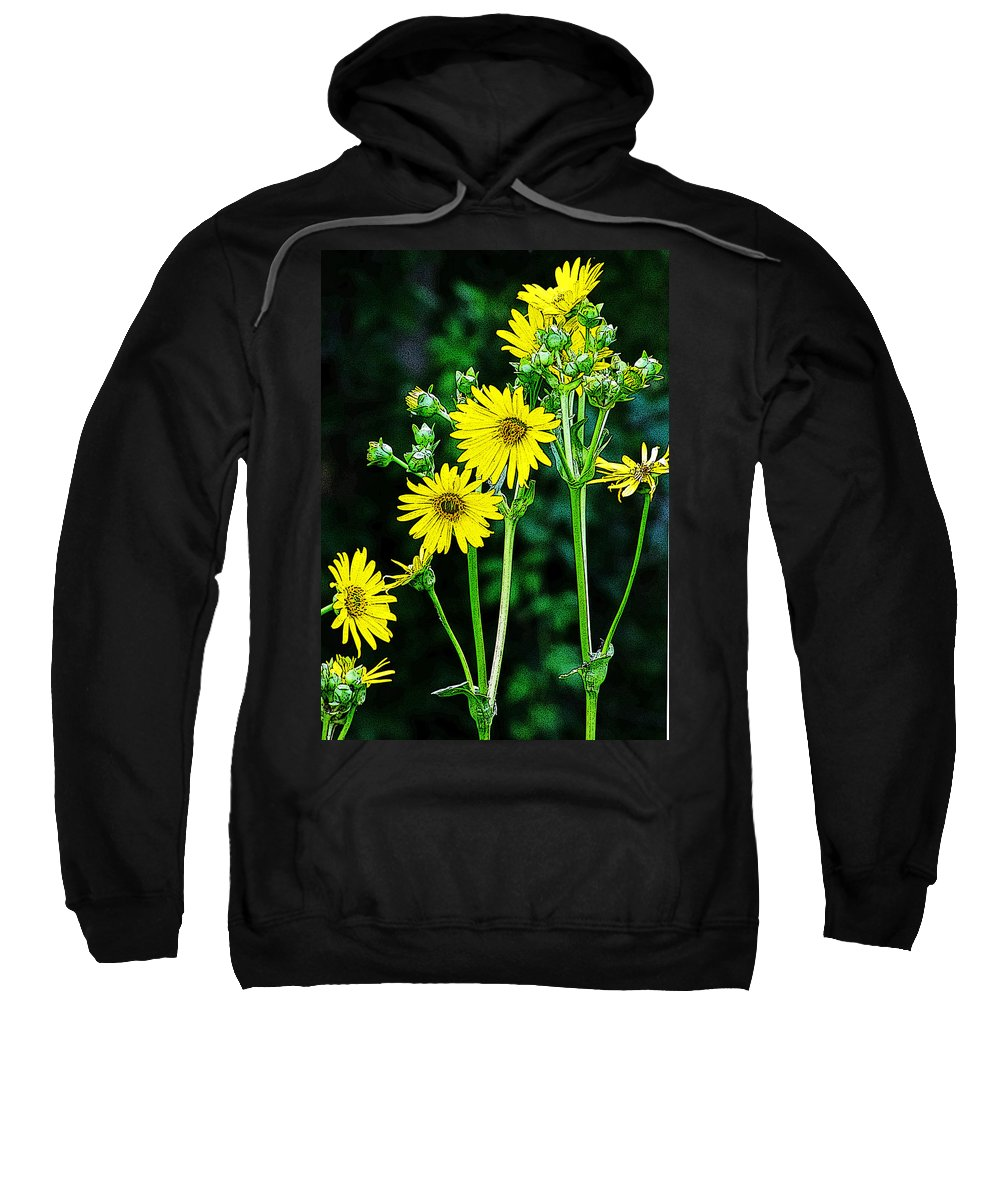 Yellow Achieve Sweatshirt featuring the photograph Yellow Achieve by Ron Tackett
