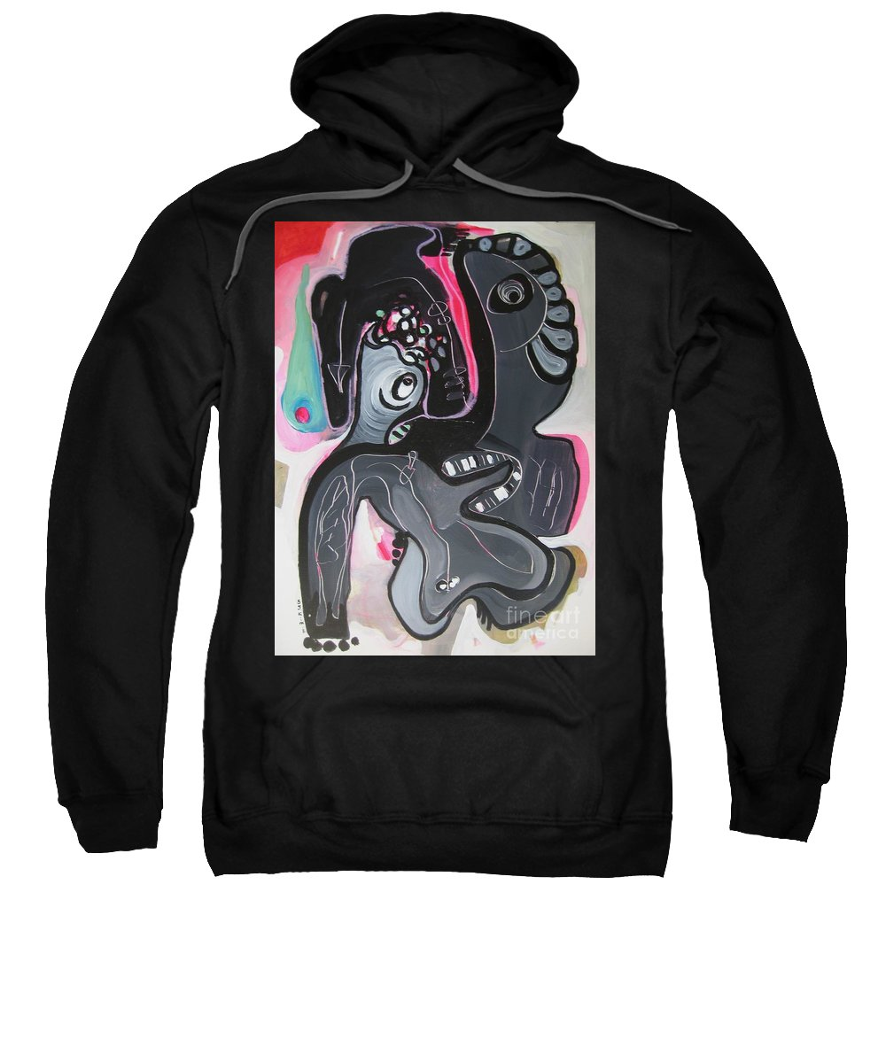 Couple Paintings Sweatshirt featuring the painting You And I Are by Seon-Jeong Kim
