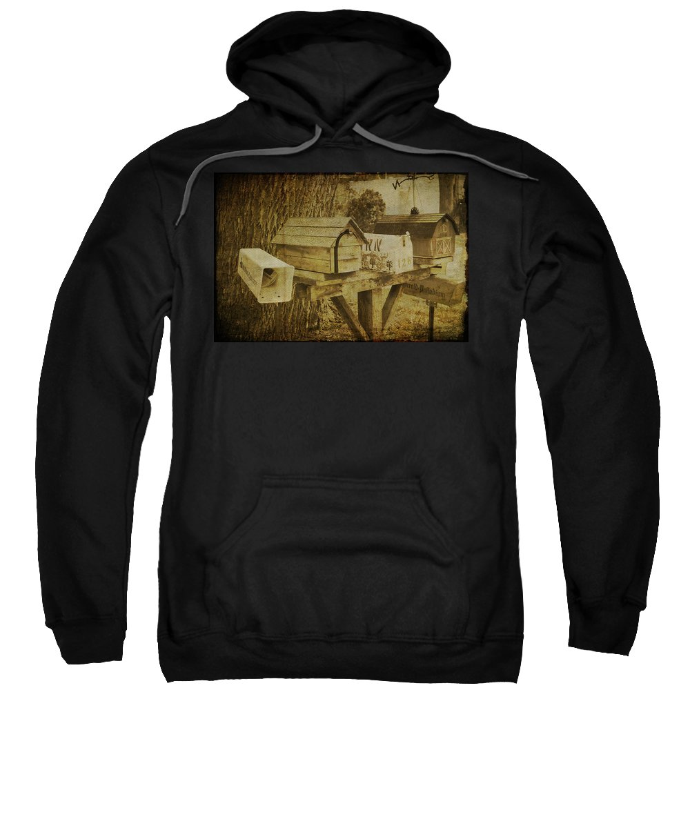 Mail Box Sweatshirt featuring the photograph You Have Mail by Jacqui Hall