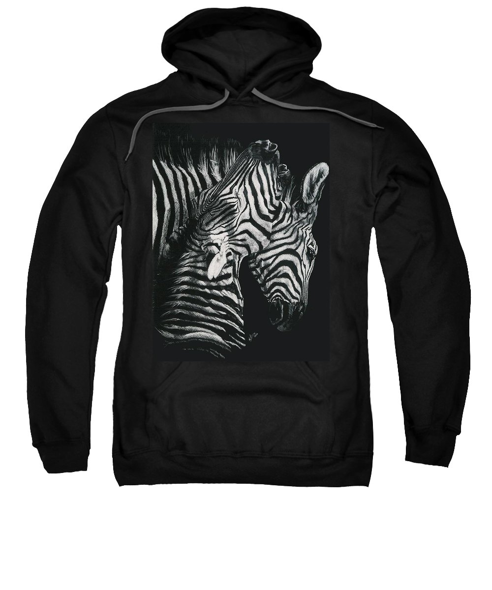Art Sweatshirt featuring the drawing Youngbloods by Barbara Keith