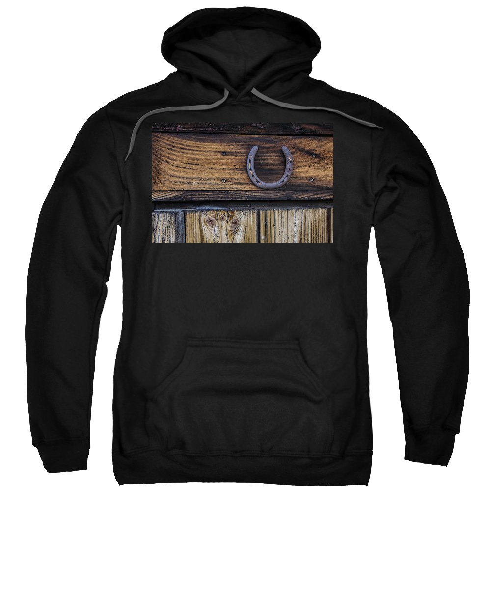 Horse Shoe Sweatshirt featuring the photograph Your Lucky Horseshoe by David Stone