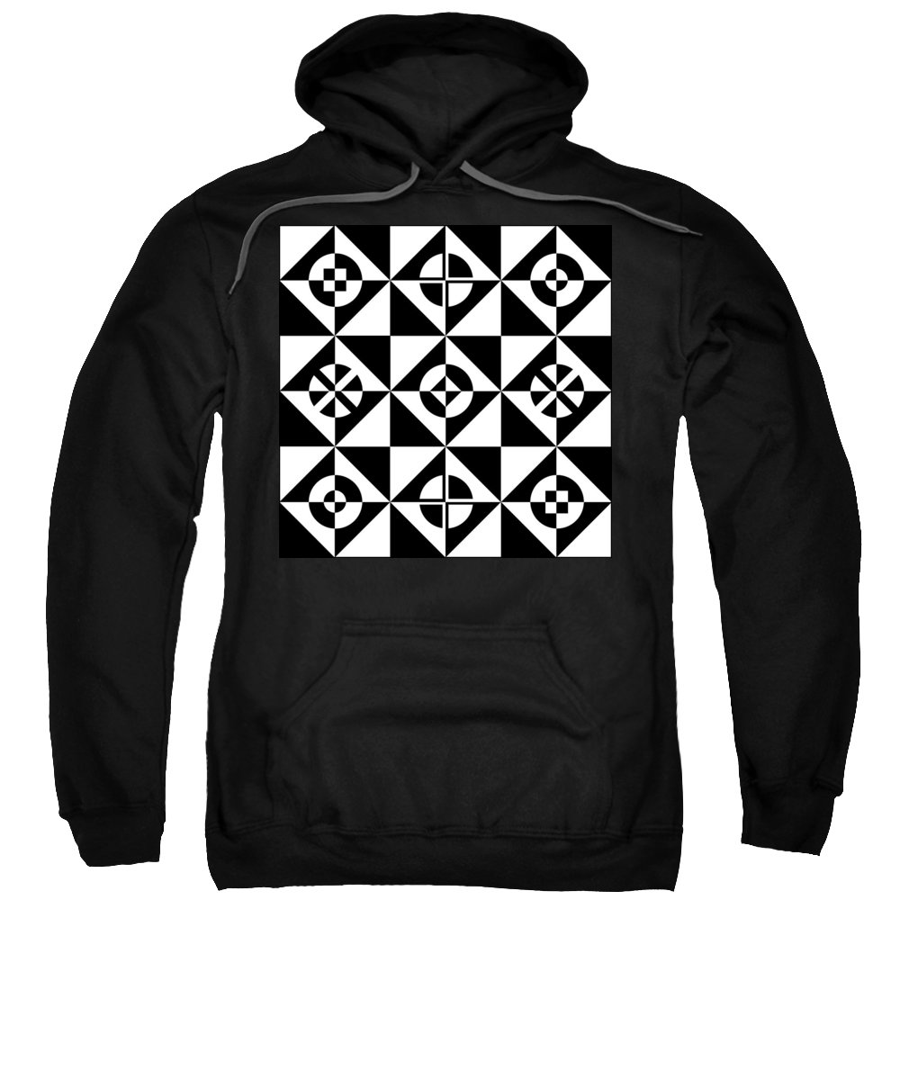 Abstract Sweatshirt featuring the digital art Your Move by Mike McGlothlen