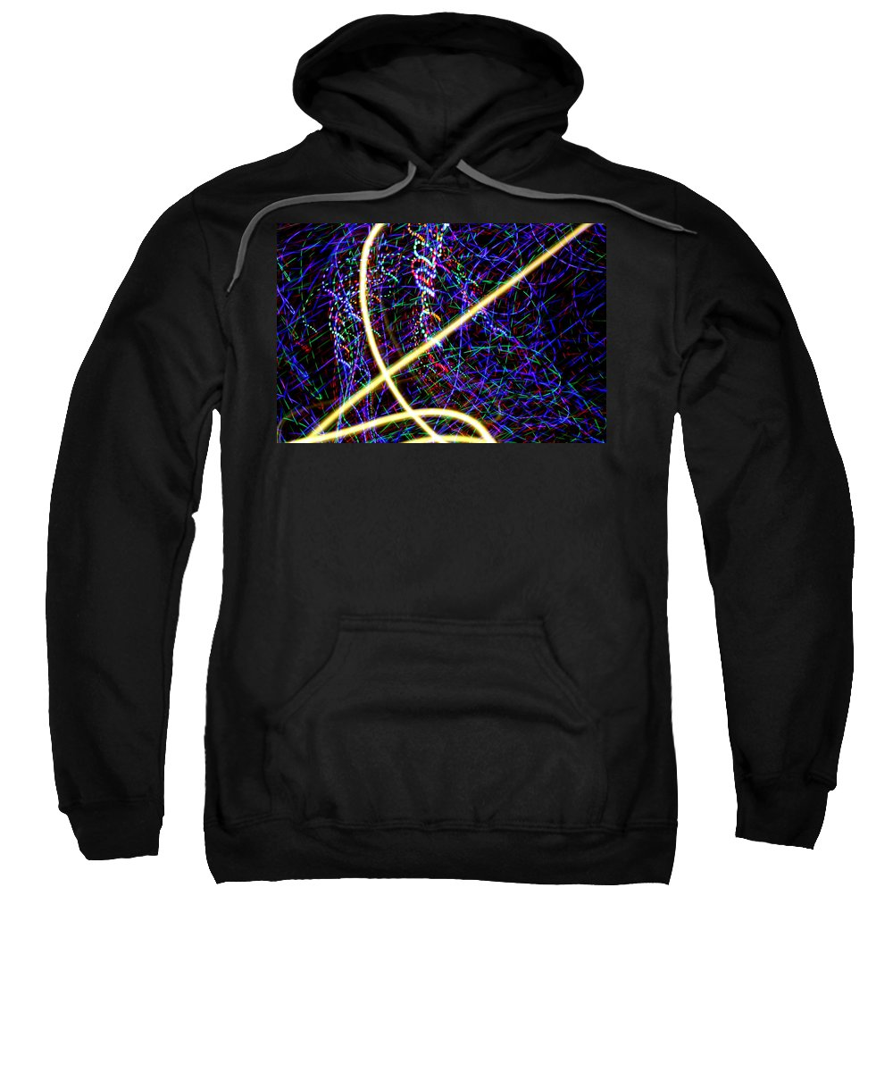Light Painting Sweatshirt featuring the photograph Zing by Ric Bascobert