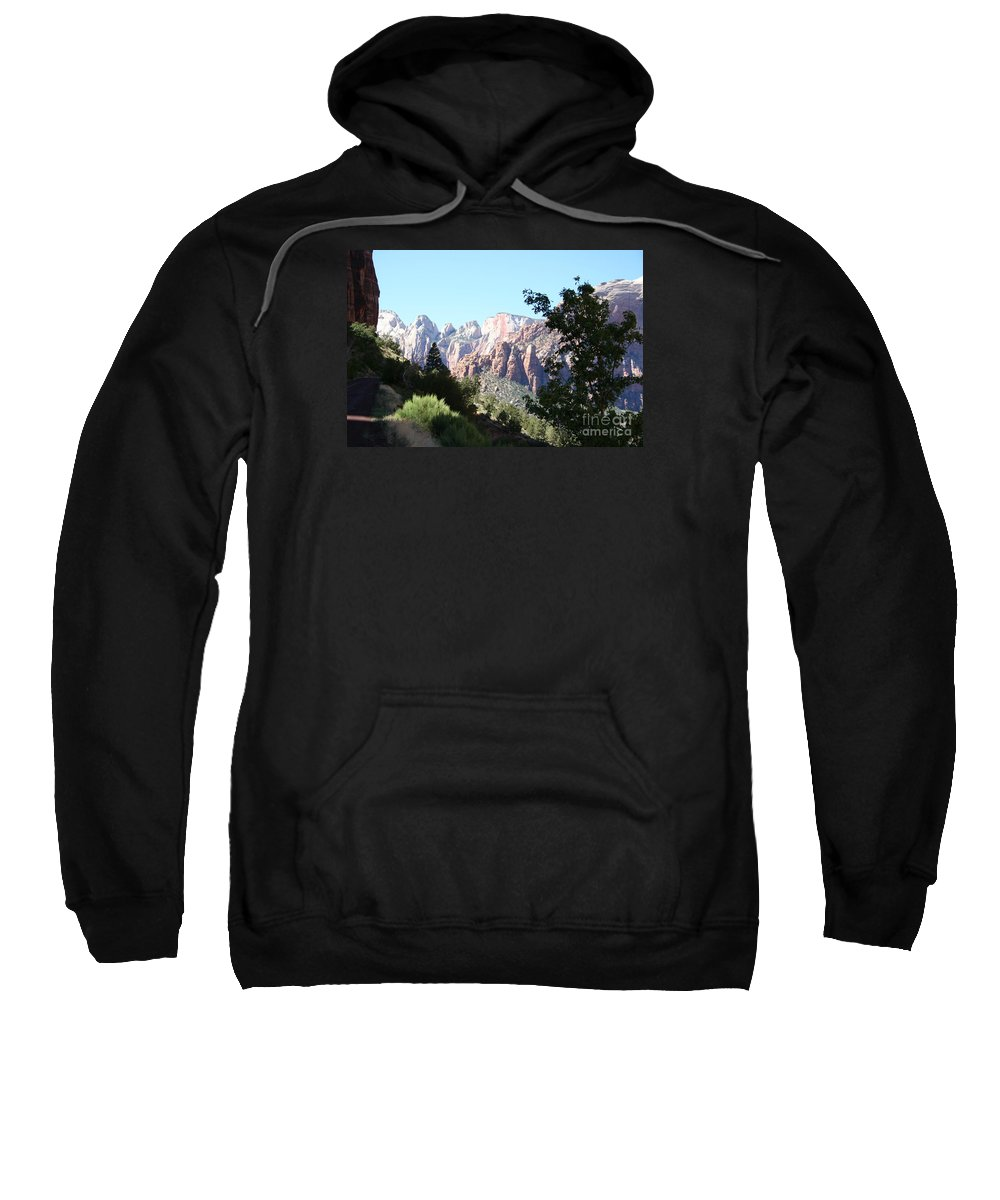 Canyon Sweatshirt featuring the photograph Zion Park Majestic View by Christiane Schulze Art And Photography