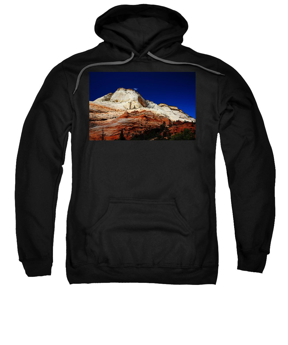 Zions Mount Sweatshirt featuring the photograph Zions Mount by Tayne Hunsaker