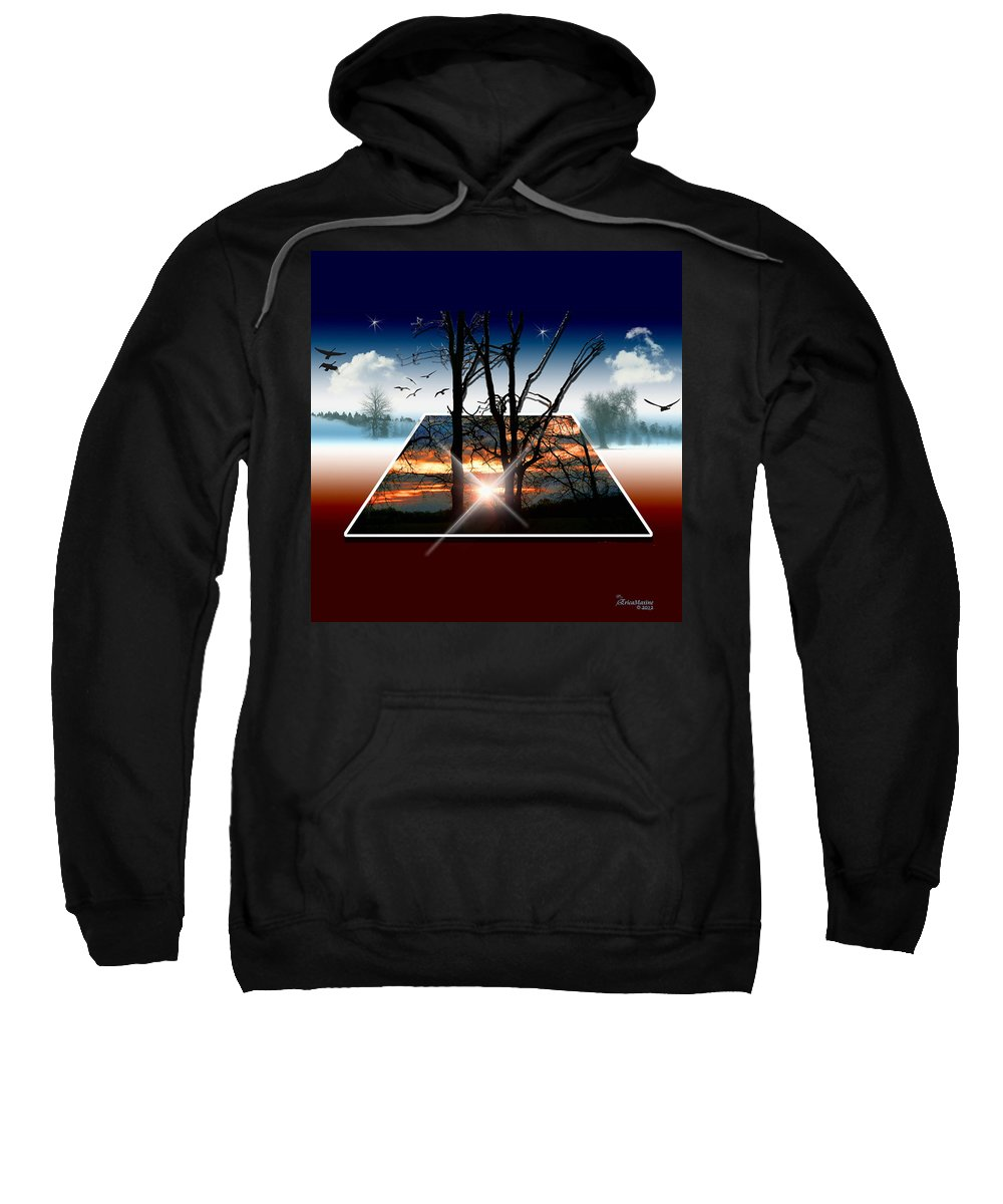 Sunrise Sweatshirt featuring the photograph Into Another Dimension by Ericamaxine Price