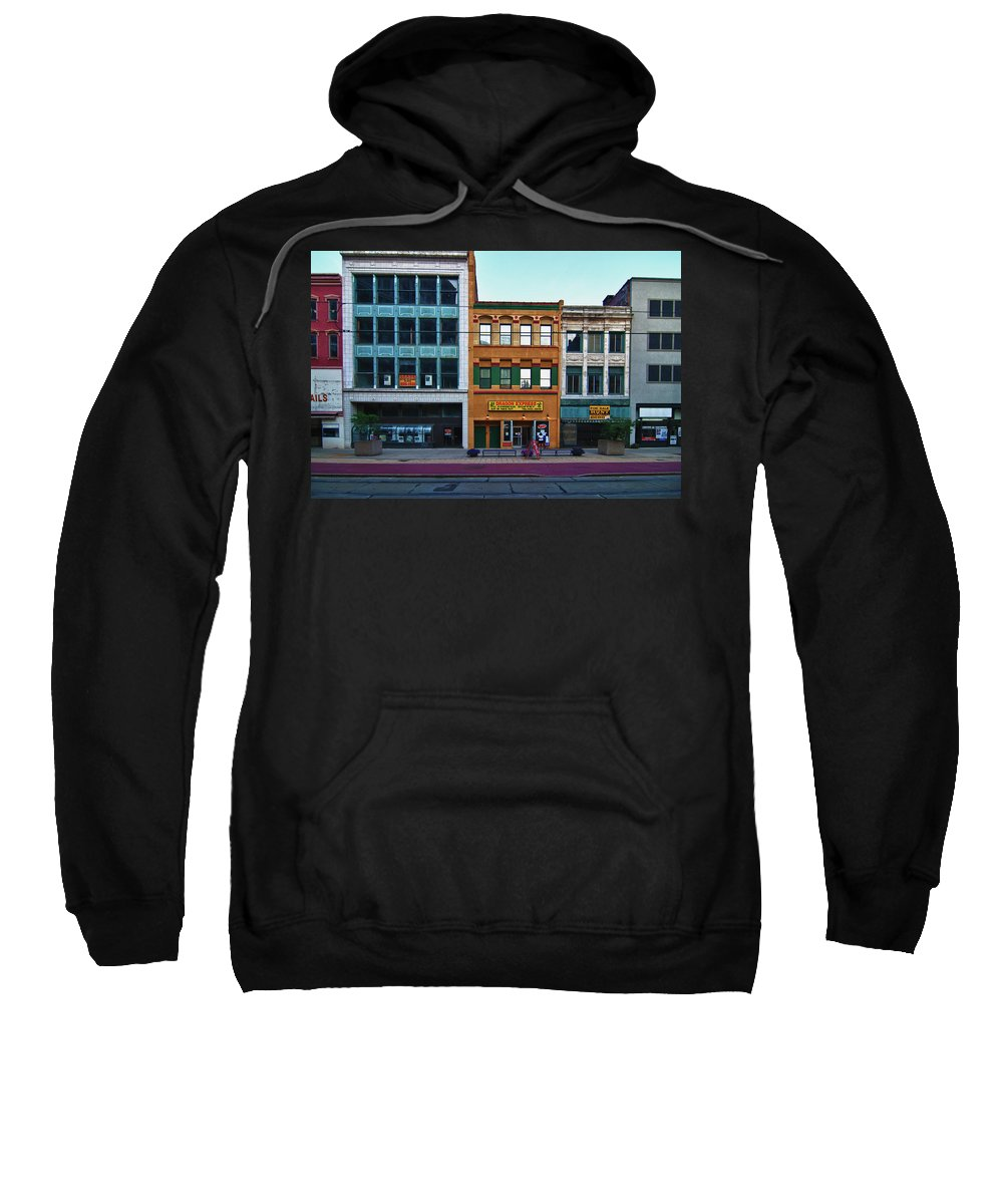 Architecture Sweatshirt featuring the photograph Main Street Decay 11429 by Guy Whiteley