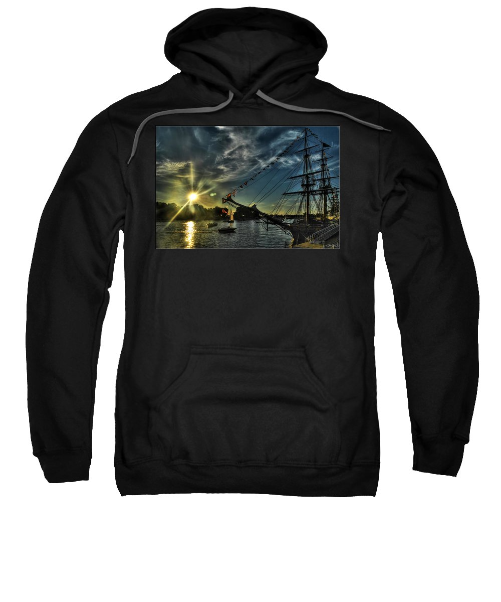 Sweatshirt featuring the photograph 002 Uss Niagara 1813 Series by Michael Frank Jr