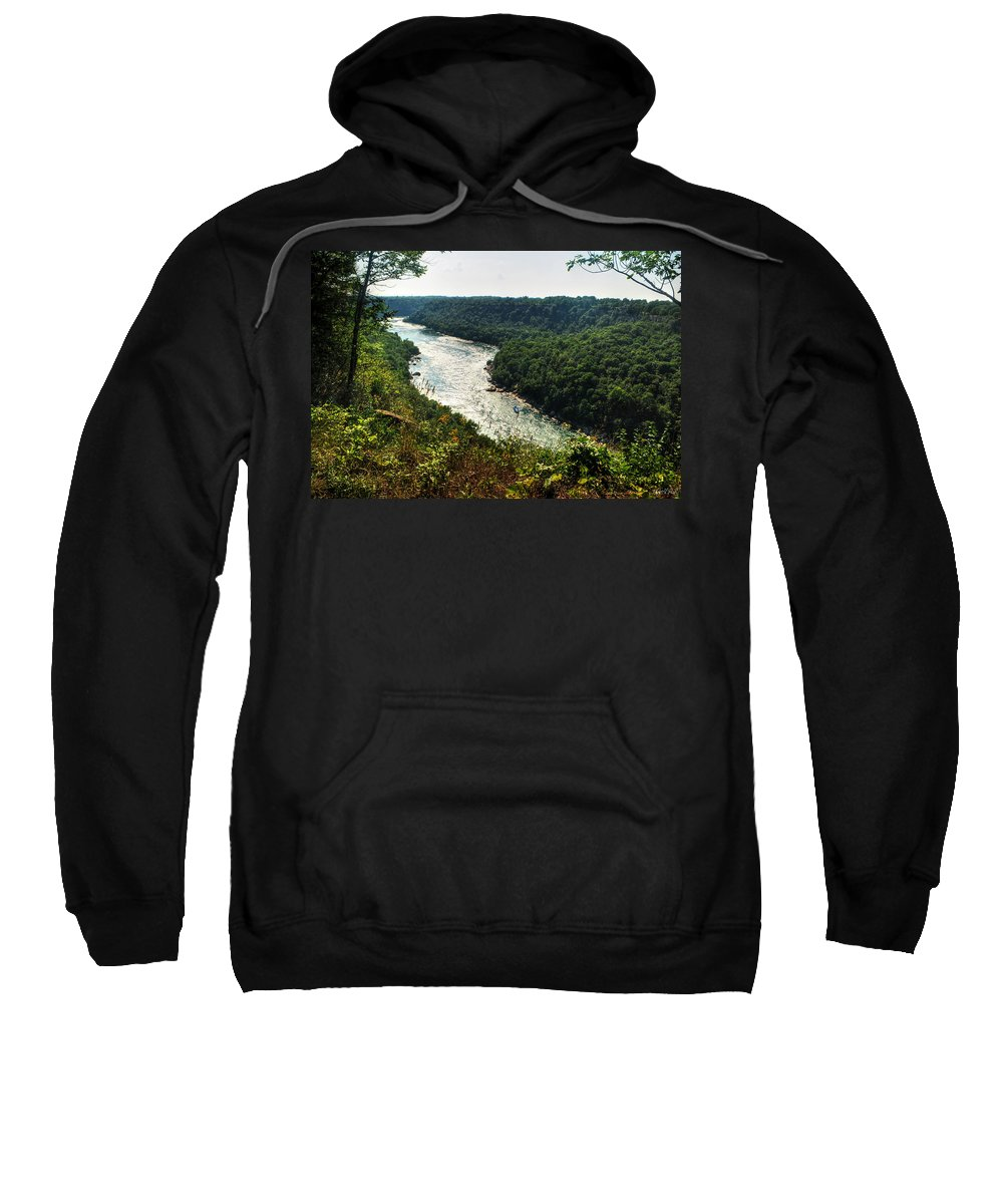 Sweatshirt featuring the photograph 003 Niagara Gorge Trail Series by Michael Frank Jr