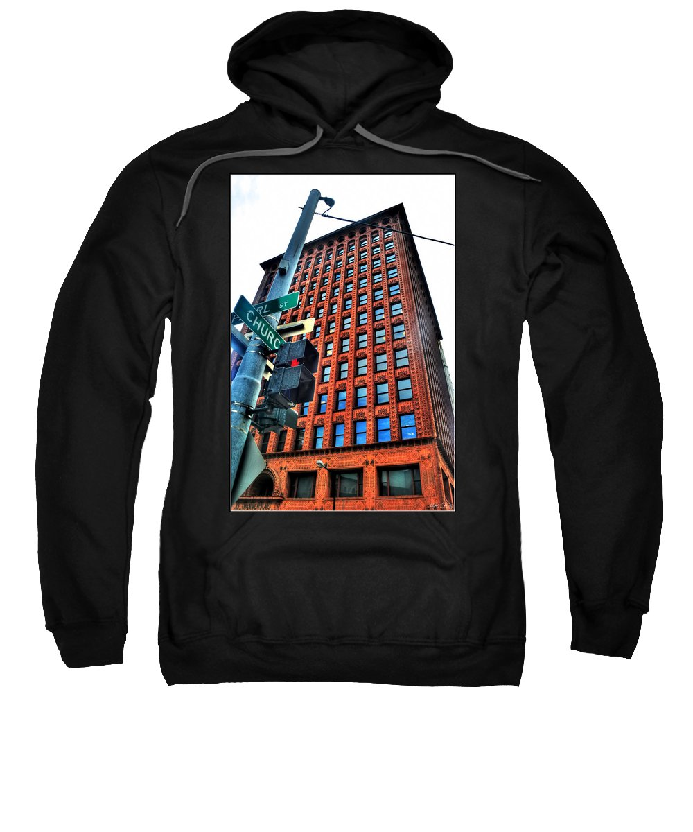 Sweatshirt featuring the photograph 005 Guaranty Building Series by Michael Frank Jr