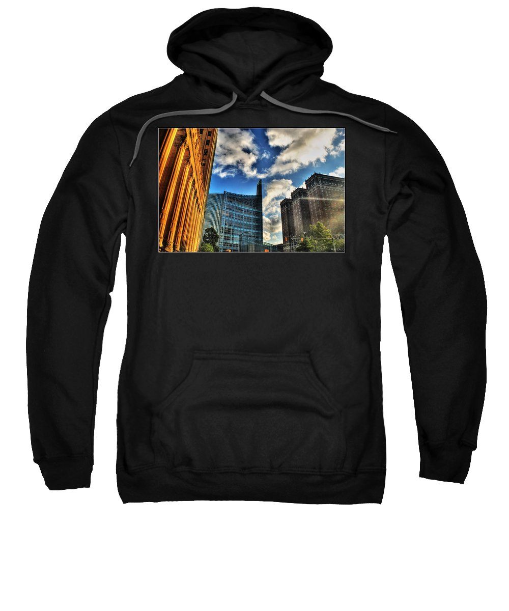Sweatshirt featuring the photograph 005 Wakening Architectural Dynamics by Michael Frank Jr