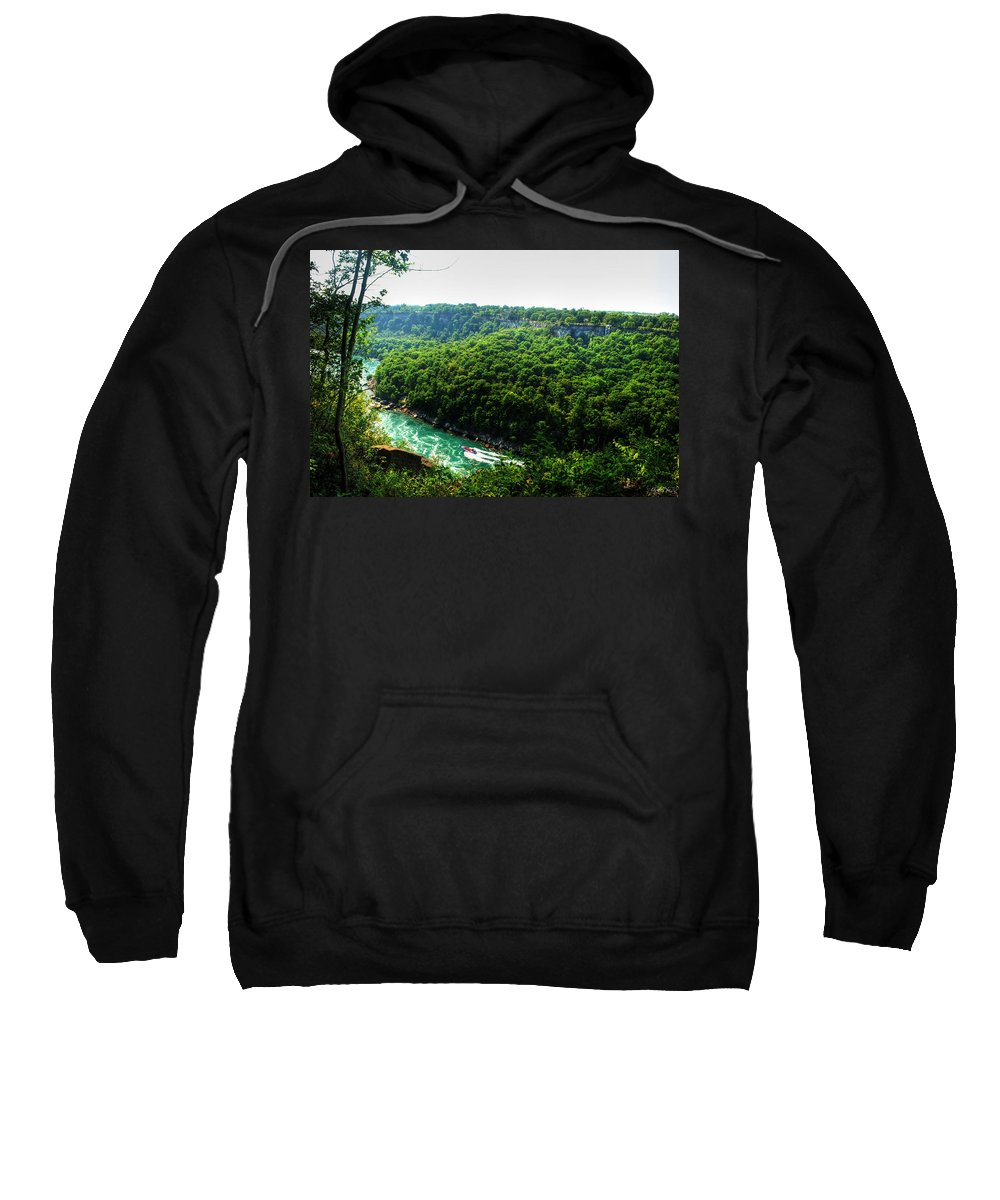 Sweatshirt featuring the photograph 007 Niagara Gorge Trail Series by Michael Frank Jr