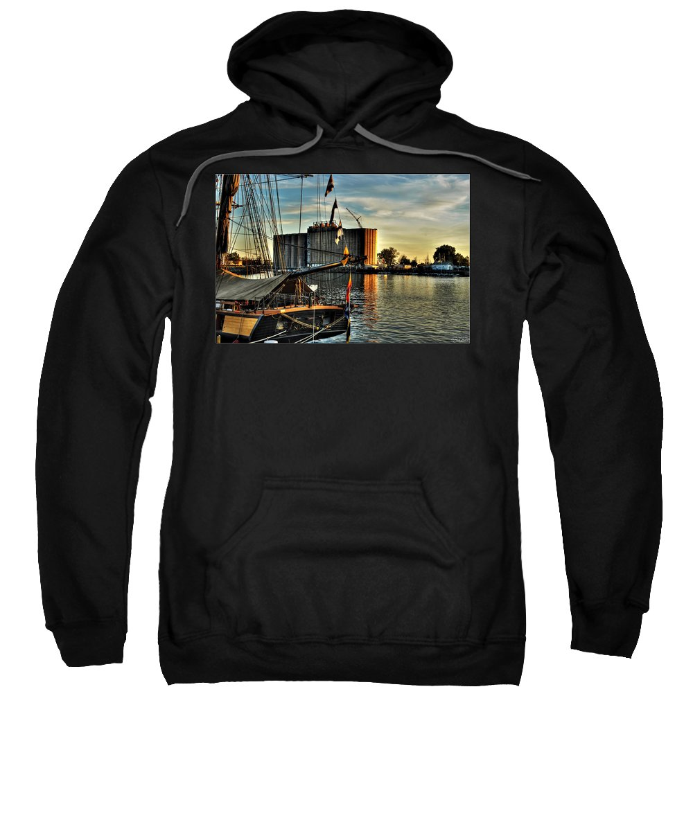 Sweatshirt featuring the photograph 007 Uss Niagara 1813 Series by Michael Frank Jr