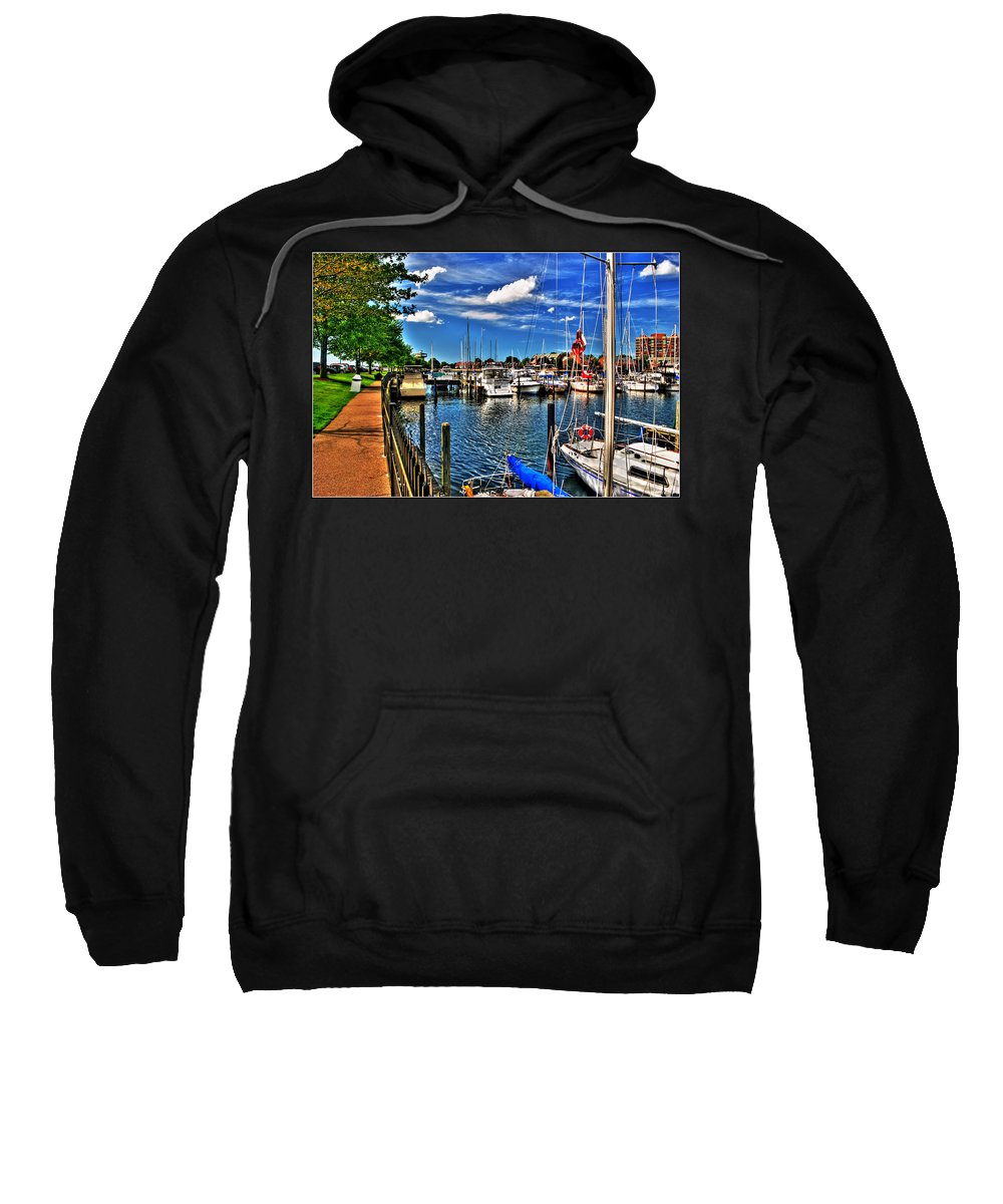 Sweatshirt featuring the photograph 009 On A Summers Day Erie Basin Marina Summer Series by Michael Frank Jr