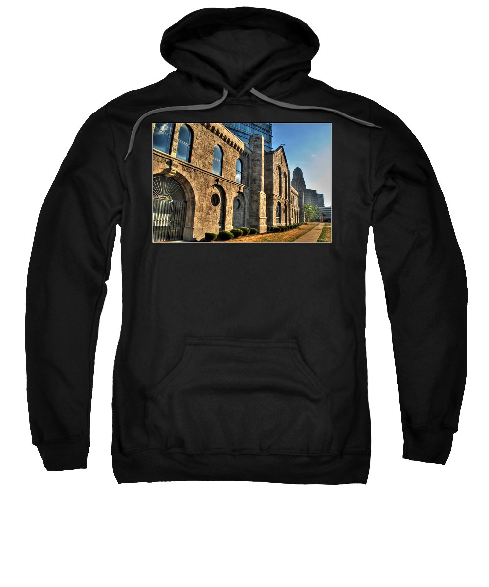 Sweatshirt featuring the photograph 011 Wakening Architectural Dynamics by Michael Frank Jr