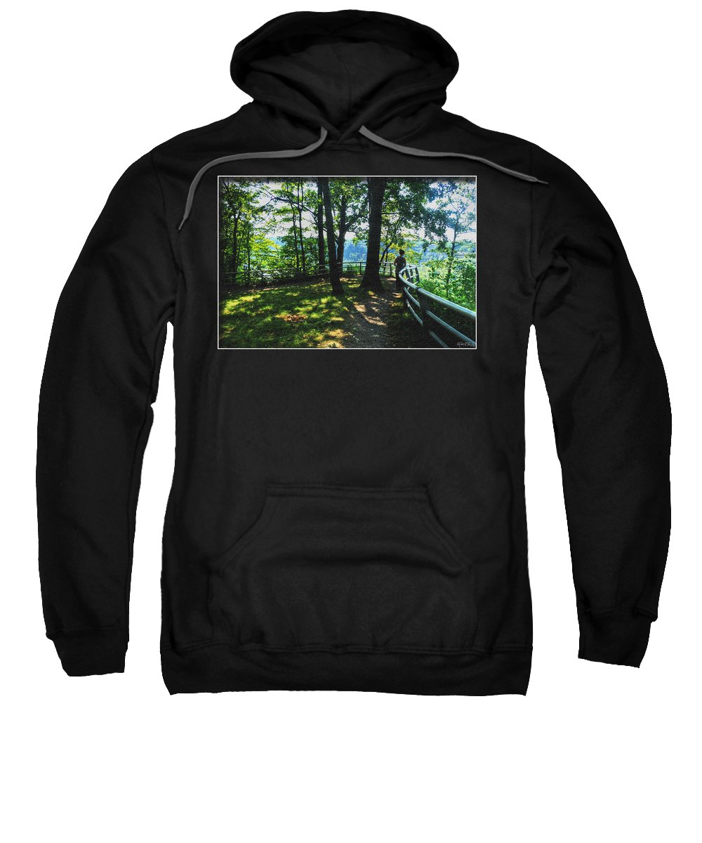 Sweatshirt featuring the photograph 012a Niagara Gorge Trail Series by Michael Frank Jr