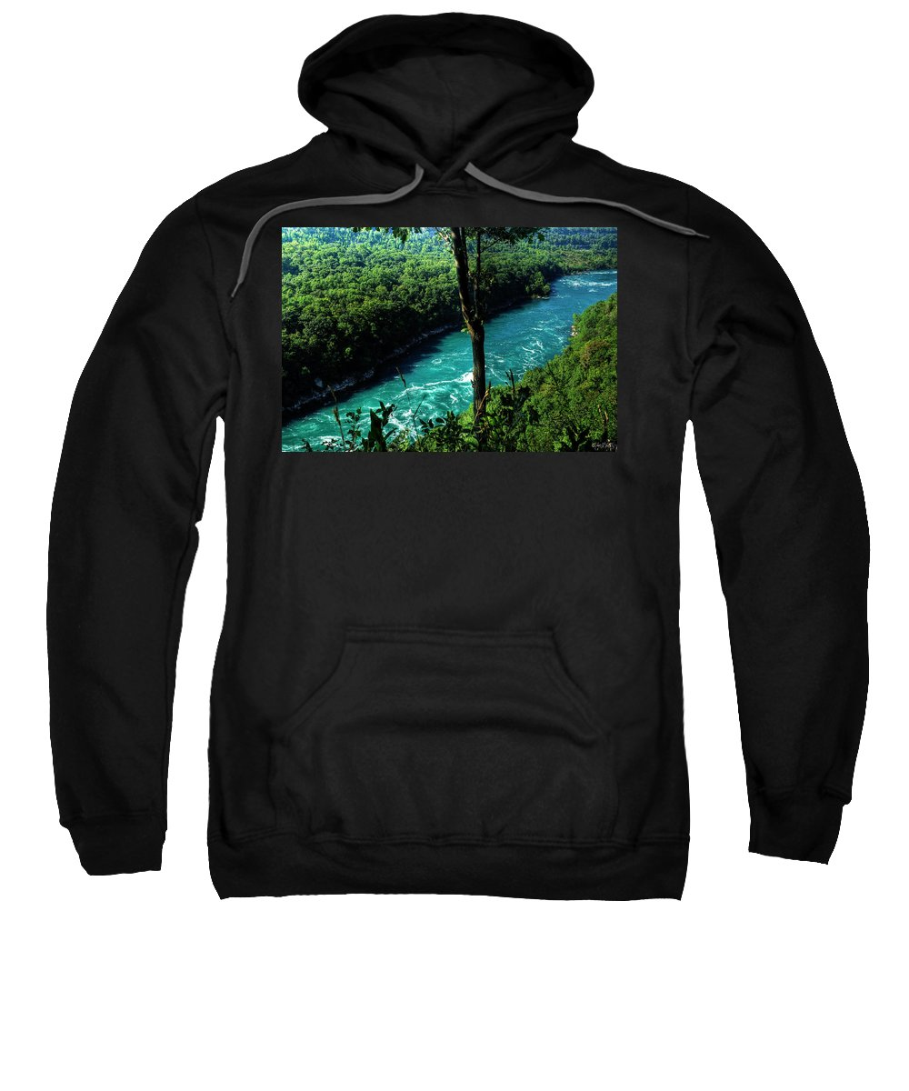 Sweatshirt featuring the photograph 015 Niagara Gorge Trail Series by Michael Frank Jr