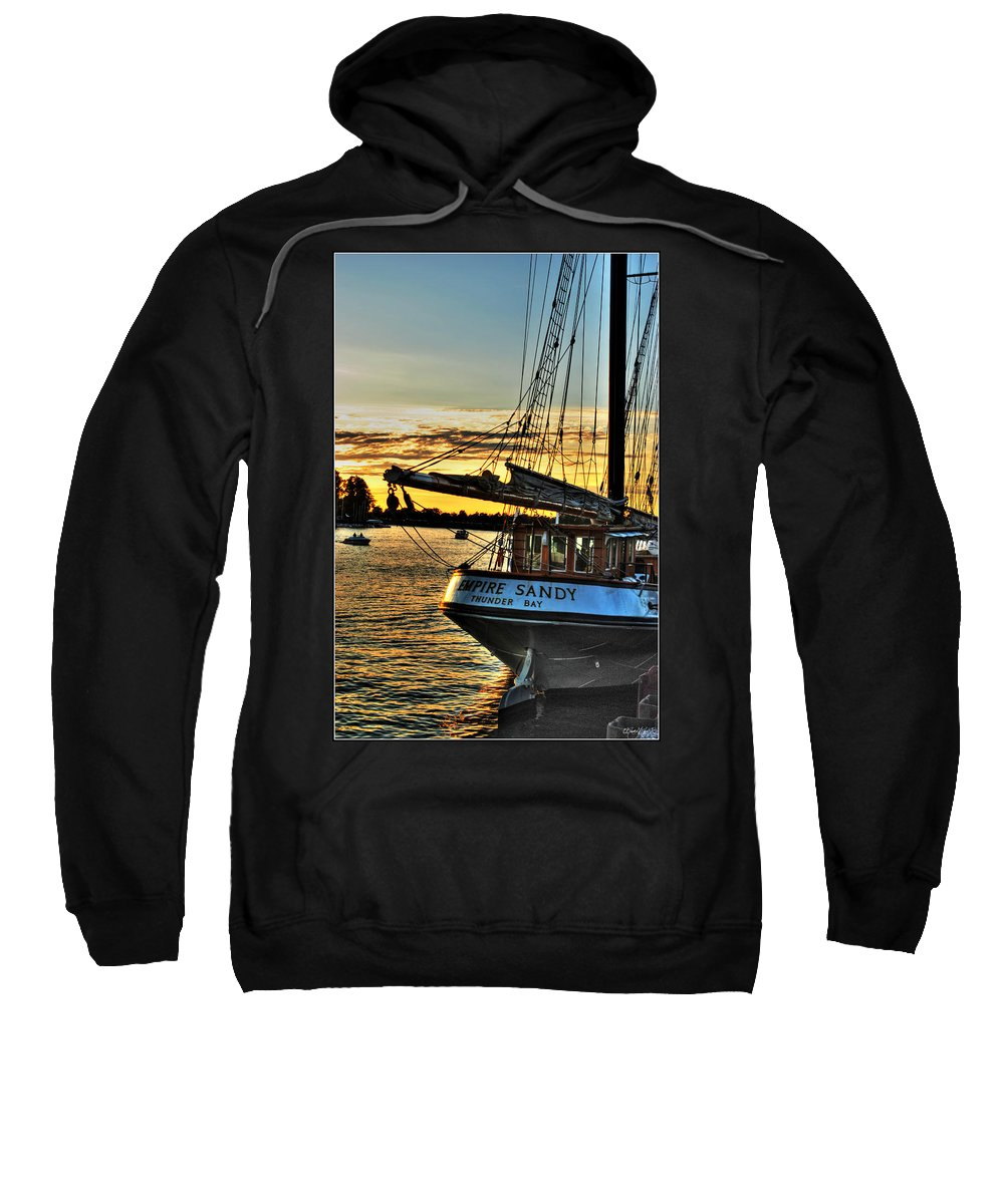 Sweatshirt featuring the photograph 016 Empire Sandy Series by Michael Frank Jr