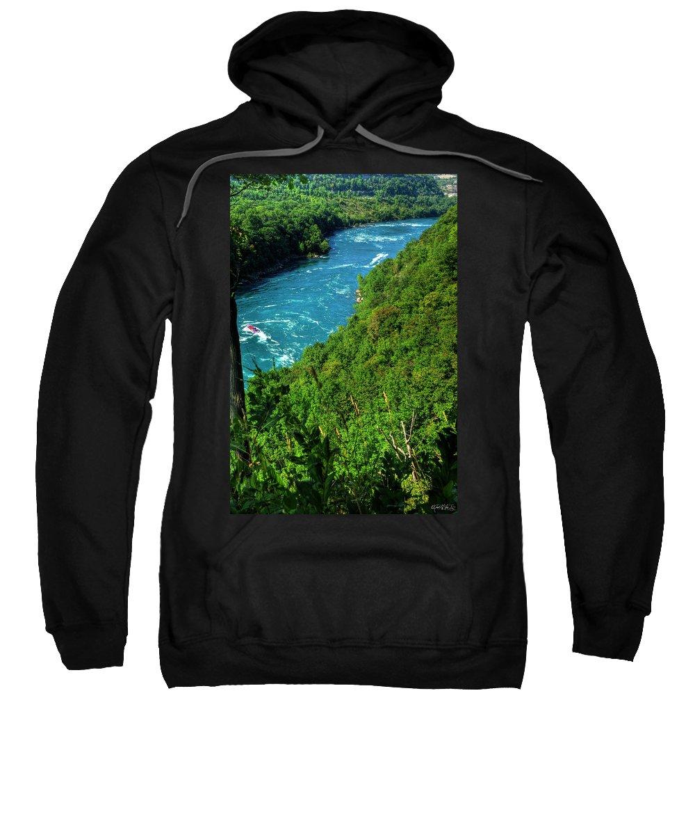 Sweatshirt featuring the photograph 017 Niagara Gorge Trail Series by Michael Frank Jr