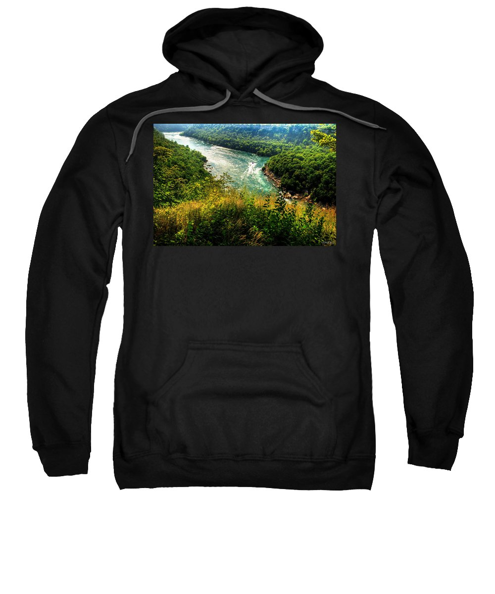 Sweatshirt featuring the photograph 019 Niagara Gorge Trail Series by Michael Frank Jr