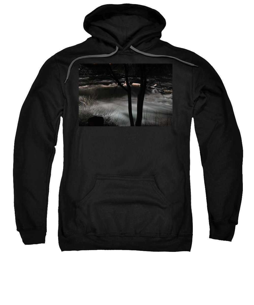 Sweatshirt featuring the photograph 02 Niagara Falls Usa Rapids Series by Michael Frank Jr