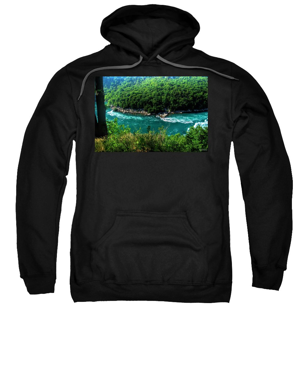 Sweatshirt featuring the photograph 022 Niagara Gorge Trail Series by Michael Frank Jr