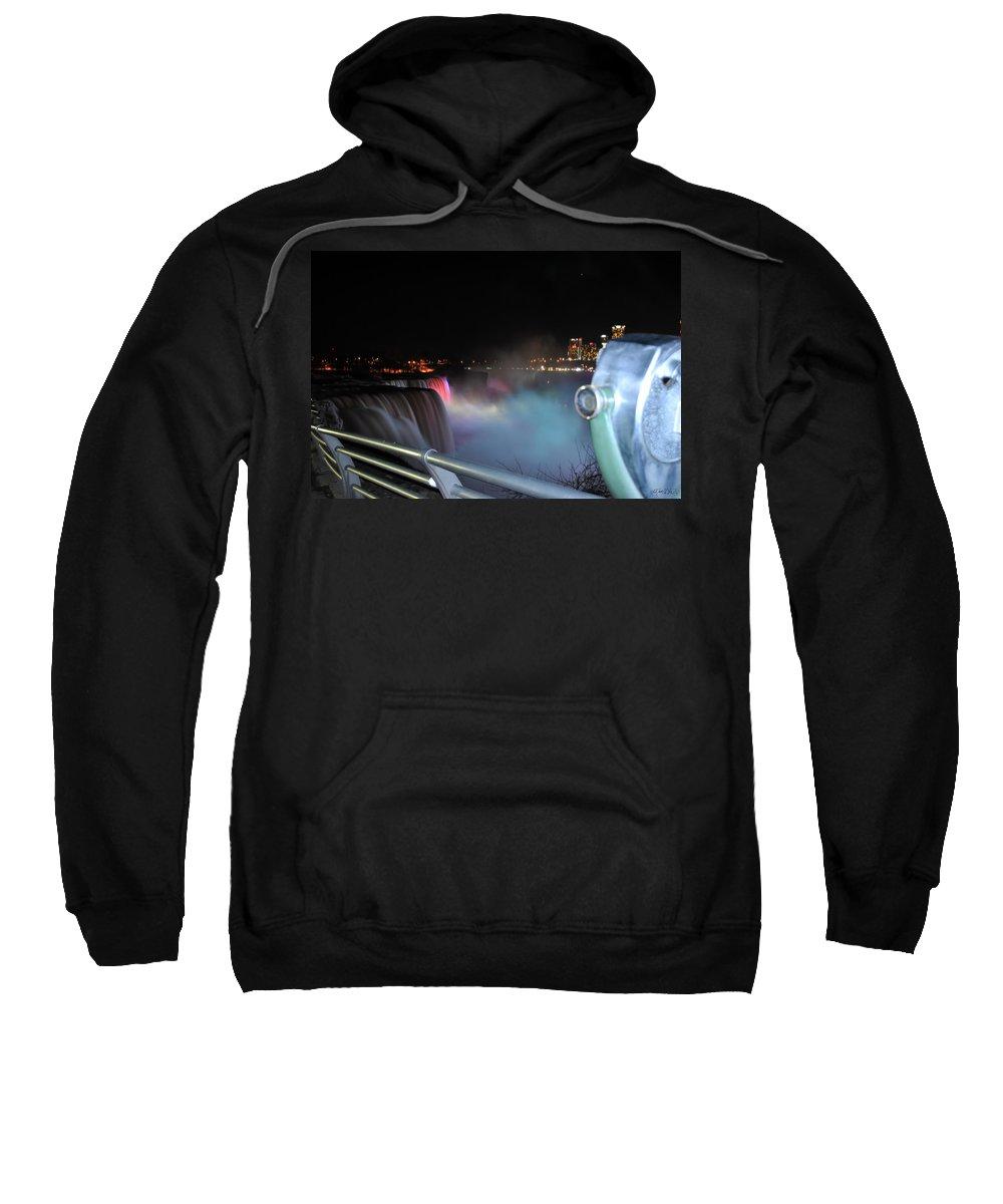 Sweatshirt featuring the photograph 04 Niagara Falls Usa Series by Michael Frank Jr