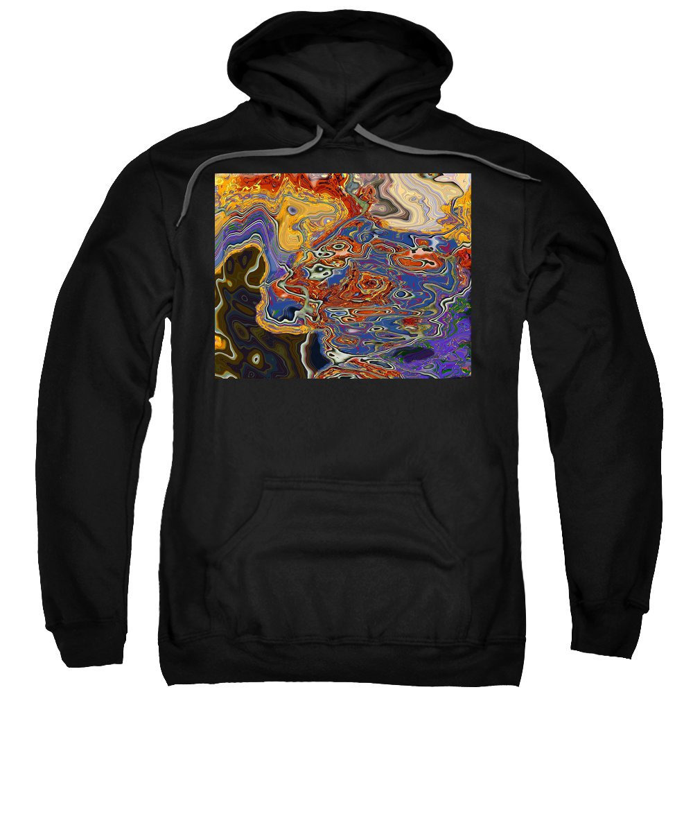 Abstract Sweatshirt featuring the digital art 0615 Abstract Thought by Chowdary V Arikatla
