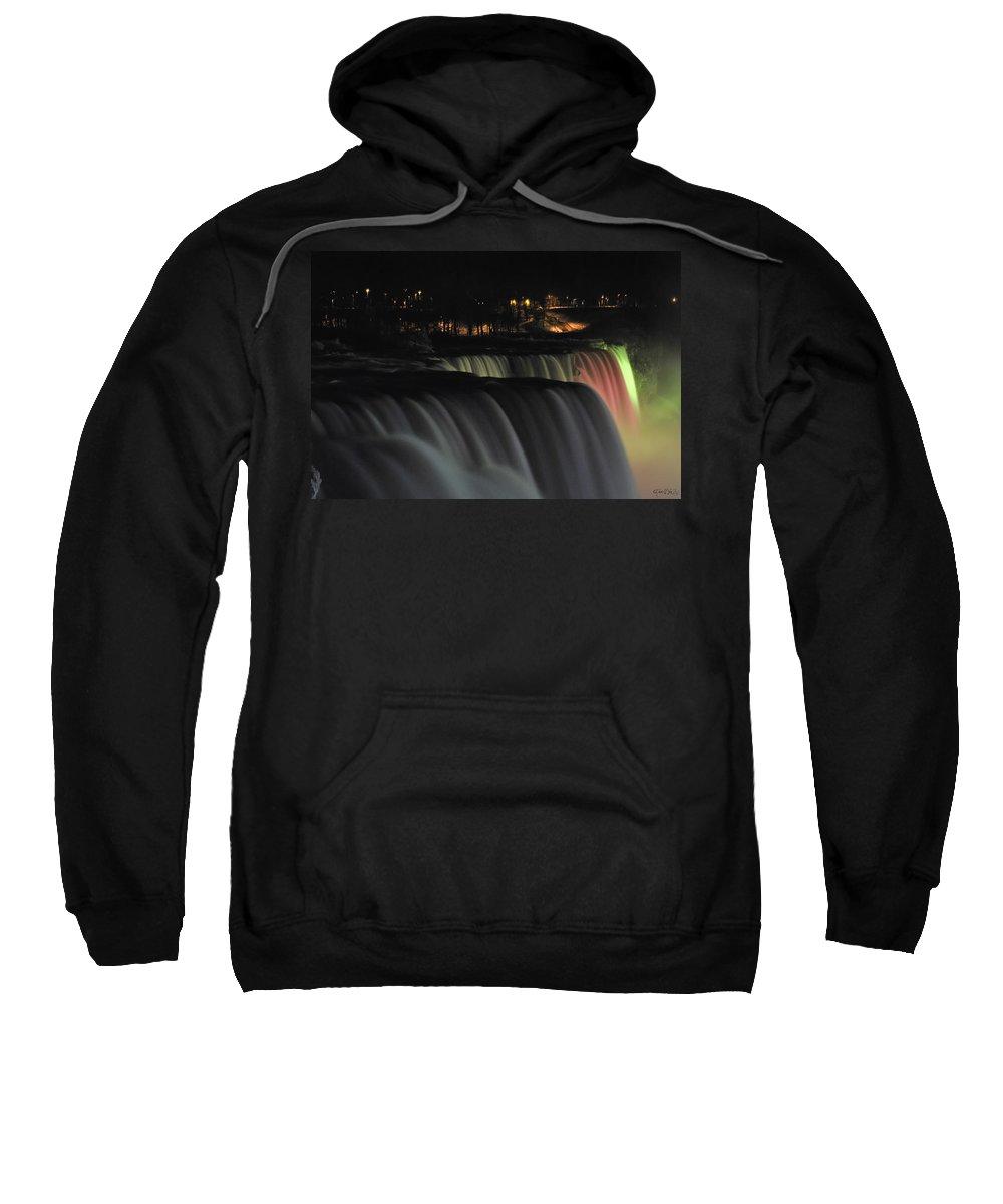 Sweatshirt featuring the photograph 010 Niagara Falls Usa Series by Michael Frank Jr