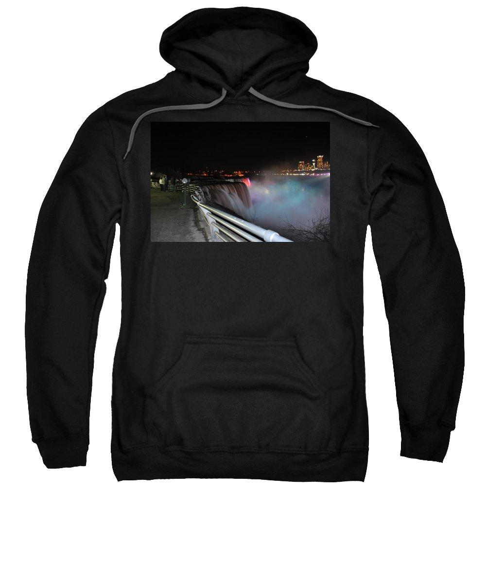 Sweatshirt featuring the photograph 05 Niagara Falls Usa Series by Michael Frank Jr