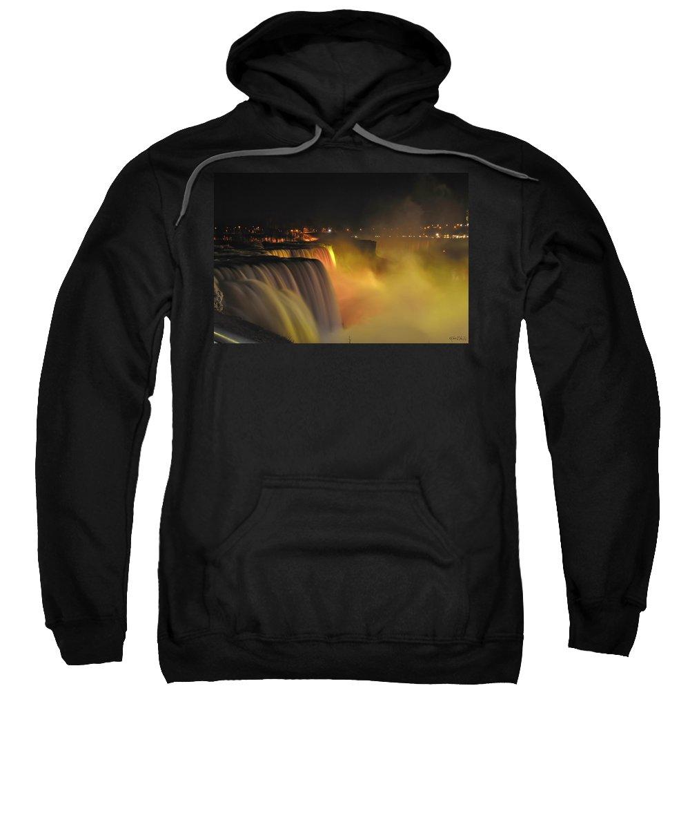 Sweatshirt featuring the photograph 07 Niagara Falls Usa Series by Michael Frank Jr
