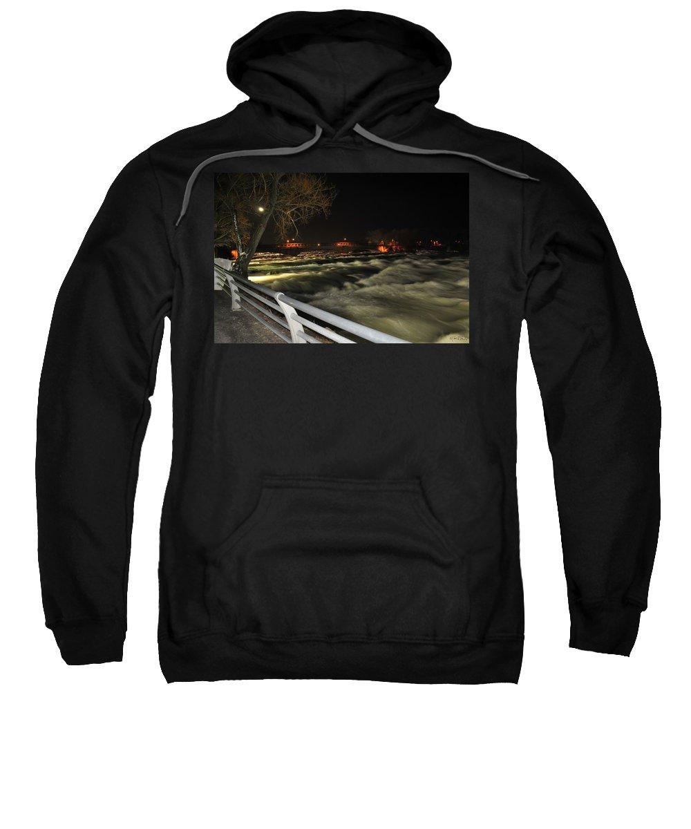 Sweatshirt featuring the photograph 08 Niagara Falls Usa Rapids Series by Michael Frank Jr