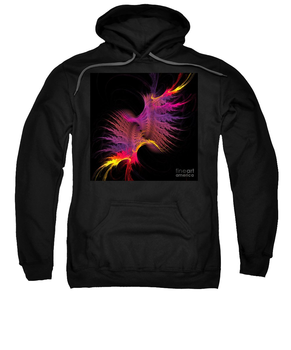 Fractal Digital Art Sweatshirt featuring the photograph Abstract 148 by Mike Nellums