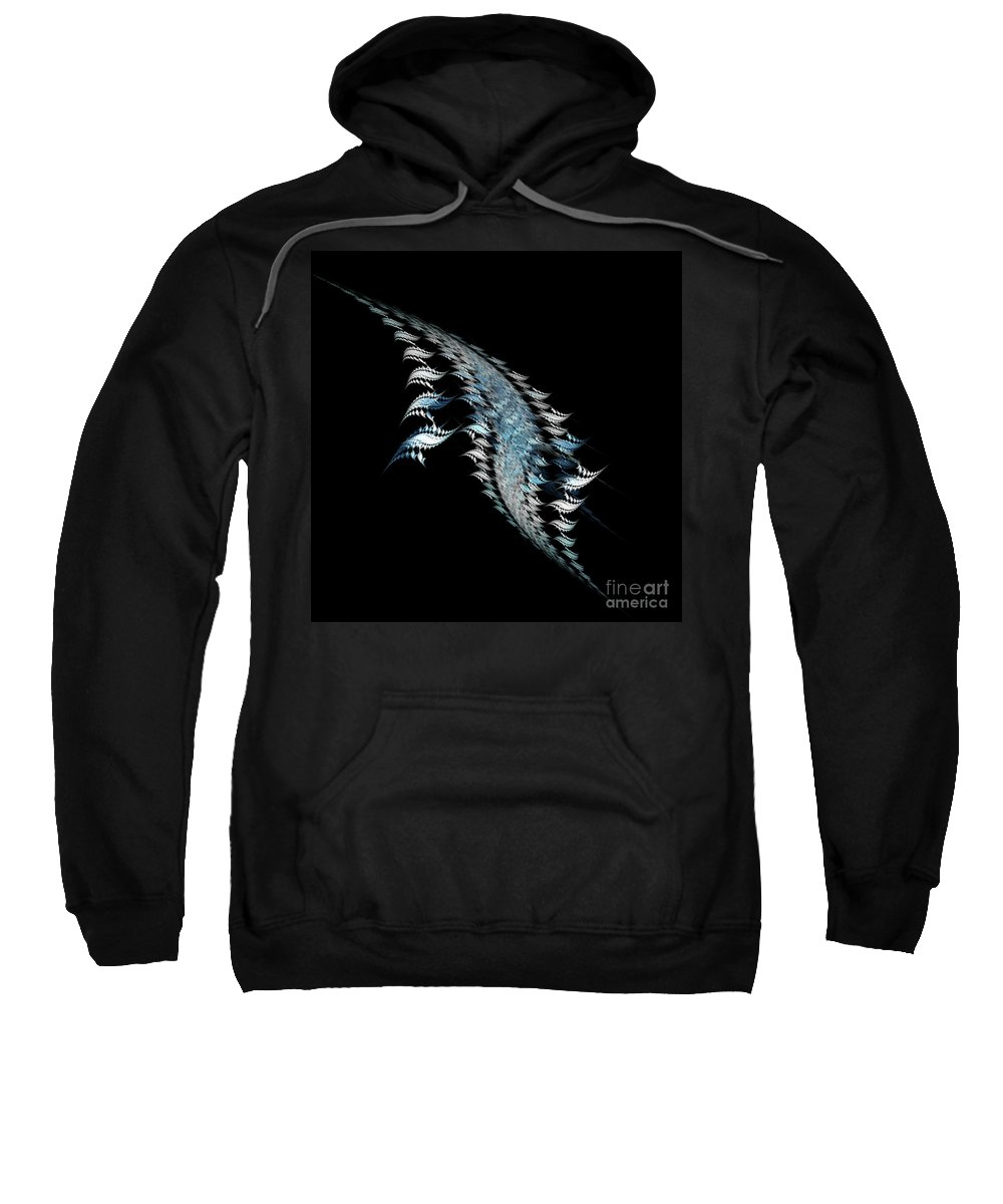 Fractal Digital Art Sweatshirt featuring the photograph Abstract 155 by Mike Nellums