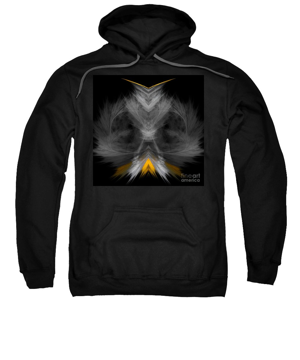 Fractal Digital Art Sweatshirt featuring the photograph Abstract 157 by Mike Nellums