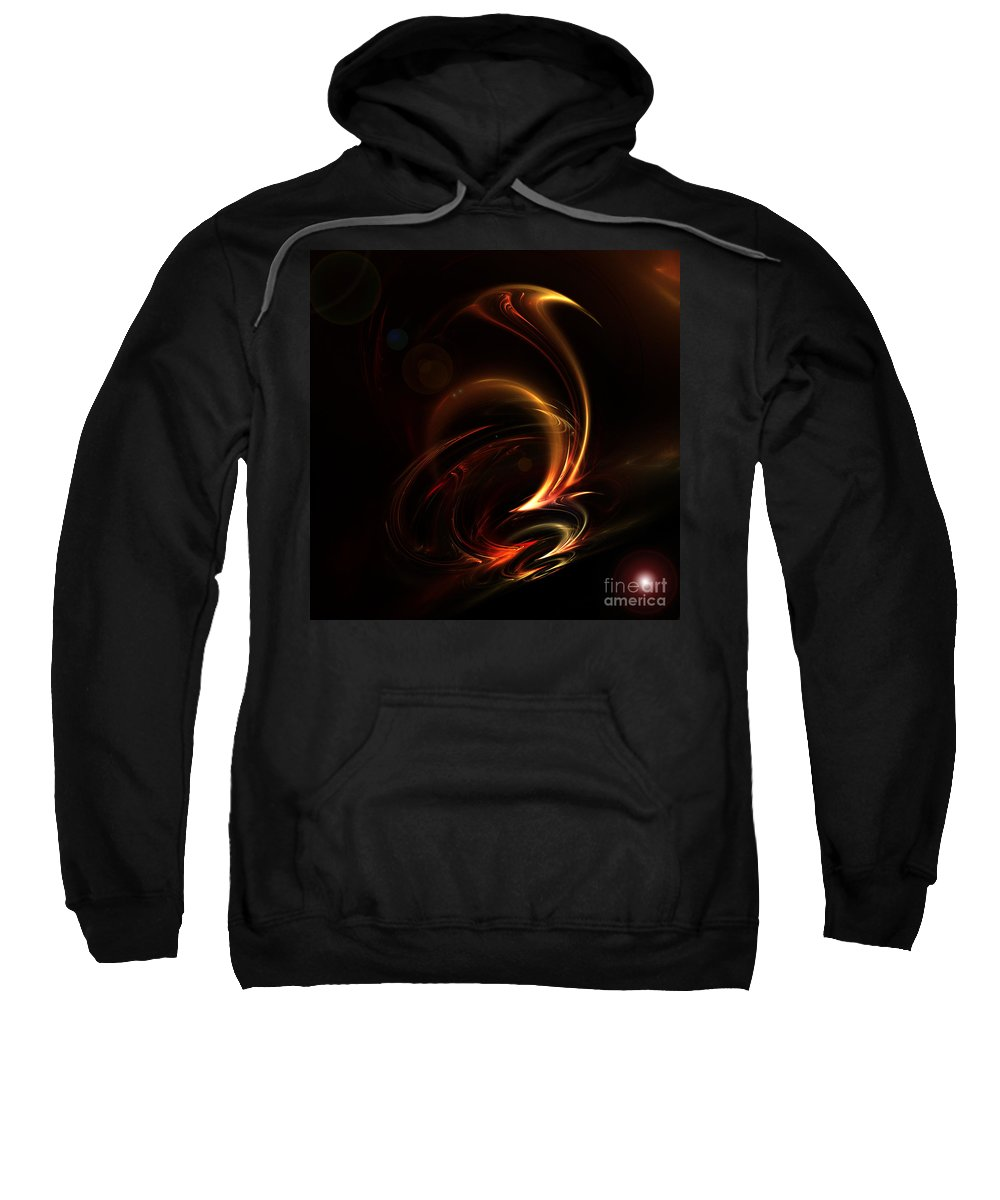 Fractal Digital Art Sweatshirt featuring the photograph Abstract 167 by Mike Nellums