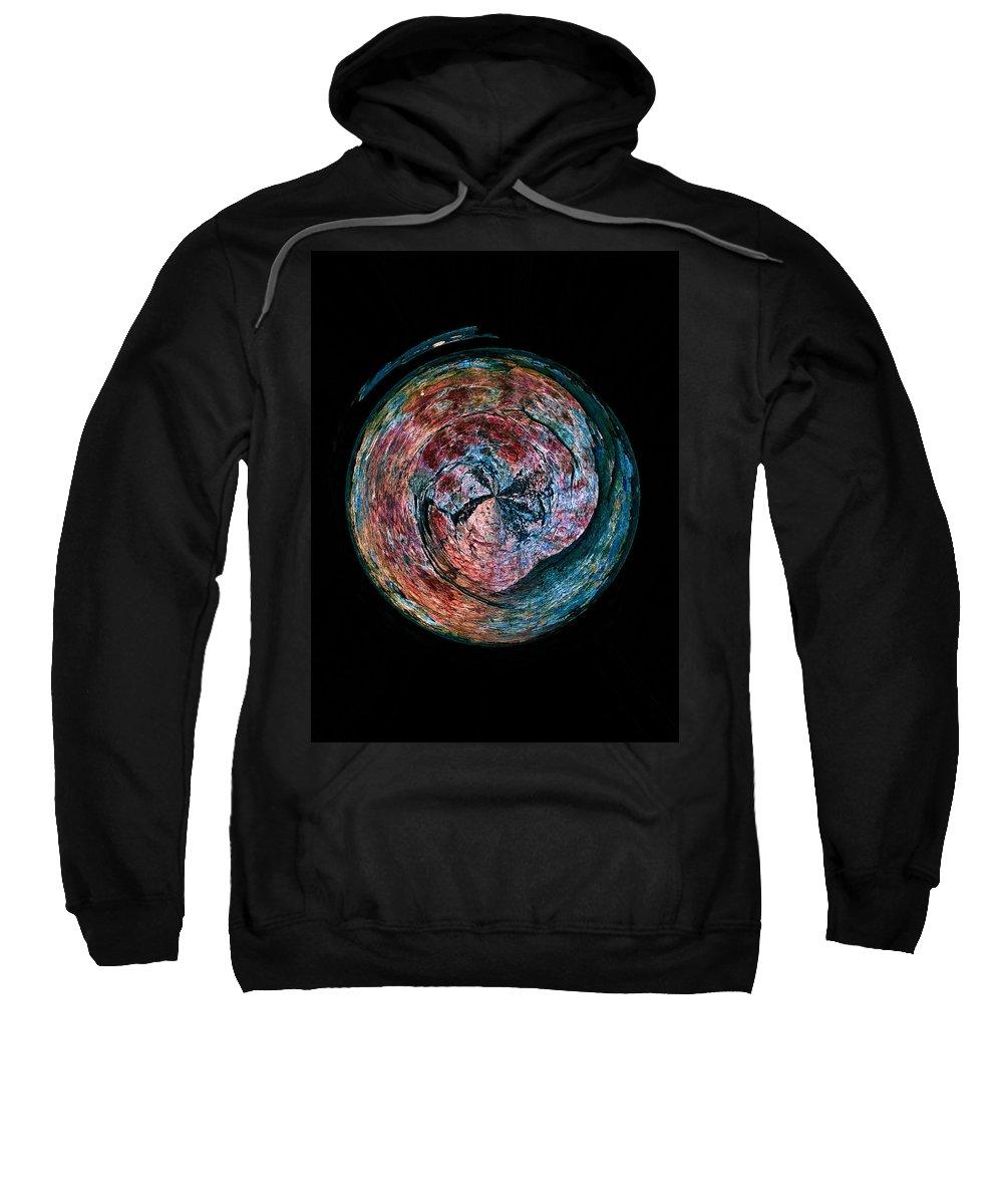 2012 Sweatshirt featuring the photograph Abstracts From Varikallio At Hossa by Jouko Lehto