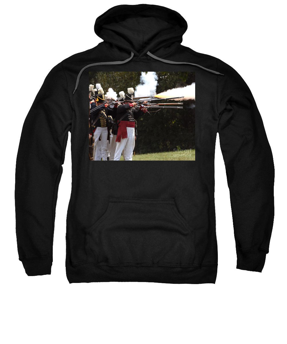 American Sweatshirt featuring the photograph American Firing Line by JT Lewis